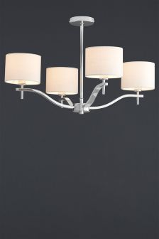 Carlton 4 Light Chrome Fitting