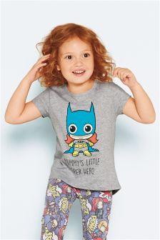 Mummy's Little Super Hero T-Shirt (3mths-6yrs)