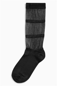 Metallic Thread Socks