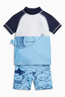 Fish Print Two Piece Set (3mths-6yrs)