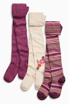 Floral Tights Three Pack (3-16yrs)