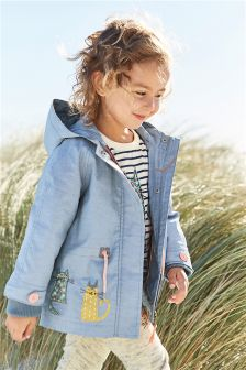 Cat Embellished Technical Jacket (3mths-6yrs)