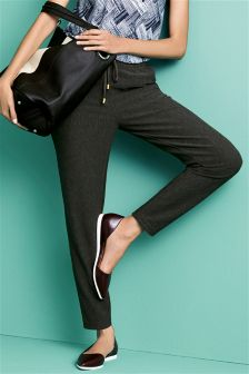 Twill Textured Trousers
