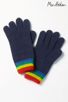 Boden Navy Knitted Gloves