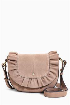 Ruffle Saddle Bag