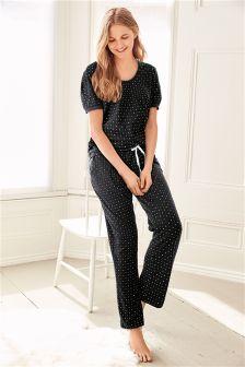 Micro Star Print Pyjamas