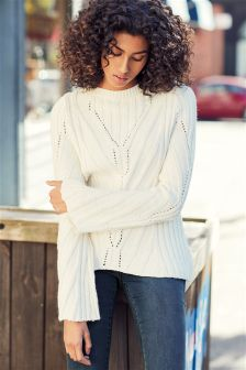 Fluted Sleeve Sweater