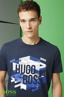 Boss Green Navy Teeos Logo Graphic T-Shirt