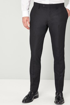 Textured Skinny Fit Tuxedo Suit: Trousers