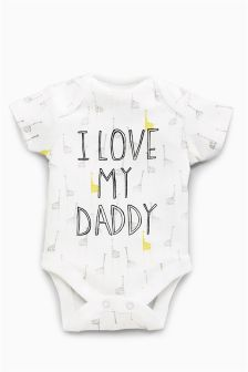 I Love Daddy Short Sleeve Bodysuit (0-18mths)