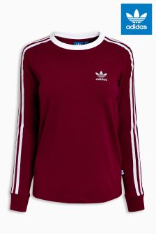 adidas Originals Burgundy Long Sleeve Tee