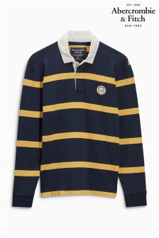 Abercrombie & Fitch Navy Stripe Rugby Shirt
