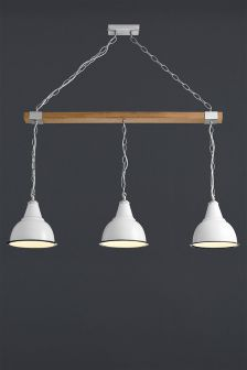 Georgetown 3 Light Wood Pendant