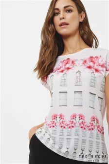 Ted Baker Baby Pink Pauwla Window Pane Fitted Tee