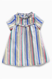 Stripe Short Sleeve Dress (3mths-6yrs)