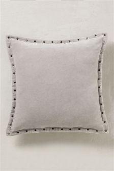 Velvet Studded Cushion