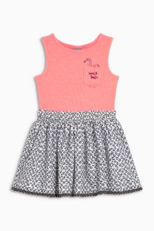 Flamingo Pocket Two Part Dress (3mths-6yrs)
