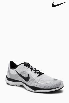 Nike White/Black Flex Trainer 6