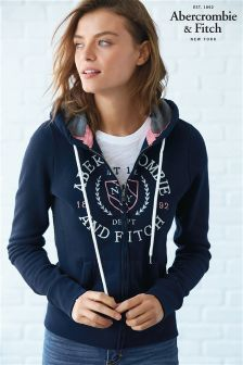 Abercrombie & Fitch Zip Through Athletic Department Hoody