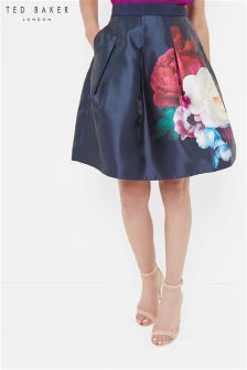 Ted Baker Navy Bouquet Full Skirt