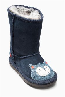 Cat Pull On Boots (Younger Girls)