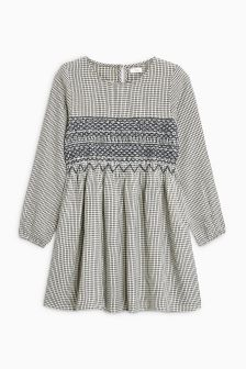Check Smock Dress (3-16yrs)