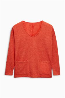 Knit Look Pocket Top