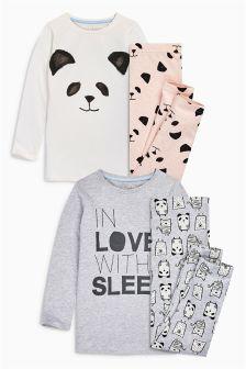 In Love With Sleep Pyjamas Two Pack (3-16yrs)