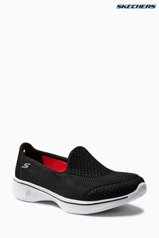 Skechers Black Go Walk 4 Slip On Trainer
