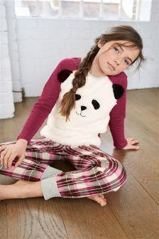 Woven Check Panda Pyjamas (3-16yrs)