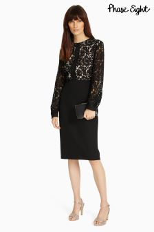 Phase Eight Black Eviana Lace Dress