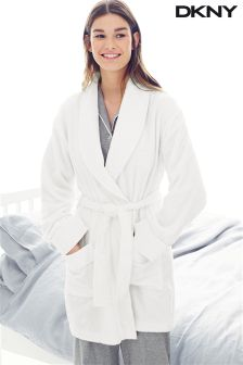 DKNY White Signature Terry Robe