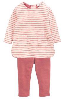 Stripe Dress And Leggings Set (0mths-2yrs)