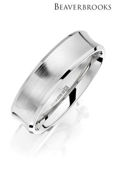 Beaverbrooks Men's Palladium Wedding Ring