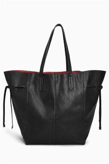 Tie Side Shopper Bag