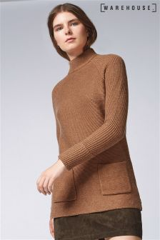 Warehouse Rust Patch Pocket Tunic Jumper