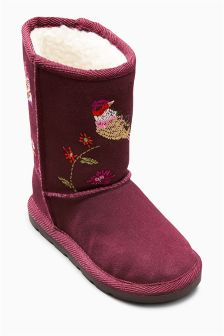 Embroidered Pull-On Boots (Younger Girls)