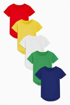 Short Sleeve T-Shirt Five Pack (3mths-6yrs)