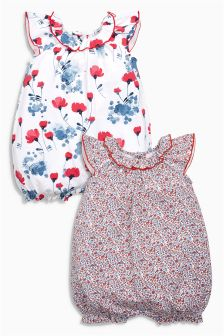 Floral Romper Two Pack (0mths-2yrs)
