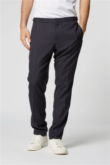 Textured Slim Fit Suit: Trousers