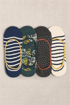Pattern Floral Footsies Four Pack