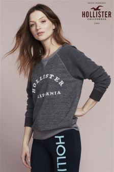 Hollister Grey Logo Crew