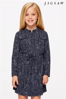 Jigsaw Navy Wave Dress