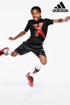 adidas Black X Logo T-Shirt