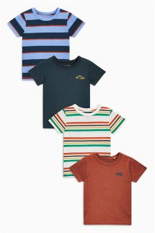 Stripe Short Sleeve T-Shirts Four Pack (3mths-6yrs)