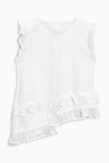 Asymmetric Ruffle Blouse (3-16yrs)