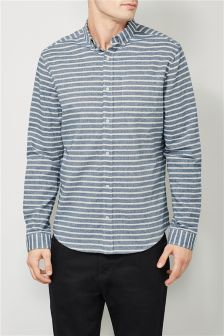 Horizontal Stripe Long Sleeve Shirt