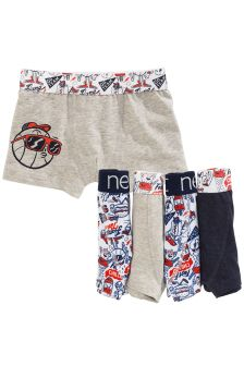Skull Printed Trunks Five Pack (2-16yrs)