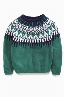 Fairisle Crew Neck Jumper (3mths-6yrs)