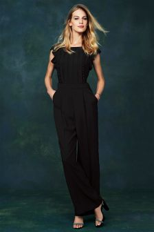 Pleated Front Jumpsuit